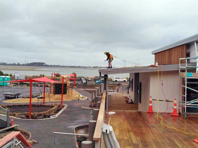 Redcliffs School: Full interior and exterior builders clean on completion of the build. This included washing down the exterior building and decking walkways.
