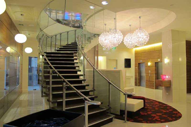 Novotel lobby following cleaning from extensive EQC repairs.