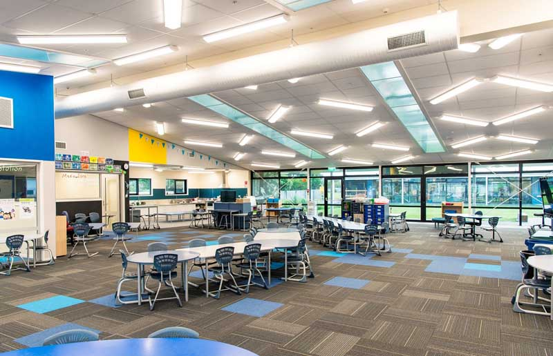 Waitakiri School builders clean at the completion of the construction.